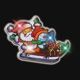Santas Sled Flashing Pin