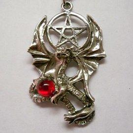 JPI Inc. Dragon w/Red Stone Necklace
