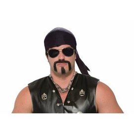 Forum Novelties Tough Guy Moustache and Goatee - Black
