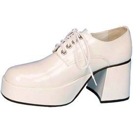 Pleaser USA Jazz Platform Shoes - White, Large 12-13