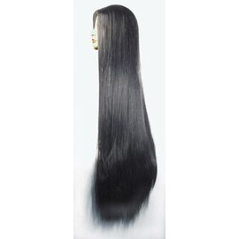 Lacey Costume Wig 1448 40 inch No Bangs, Black Wig