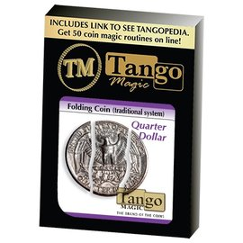 Tango Folding Coin Quarter Traditional, D0021 by Tango Magic (M10)