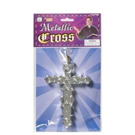 Forum Novelties Metallic Cross Necklace (C13)