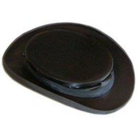 Top Hats Of America DBA Krieger Top Hats Collapsible Black Silk Top Hat - 7 1/8