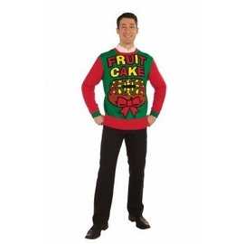 Forum Novelties Christmas Sweater, Fruit Cake - XL 46-48