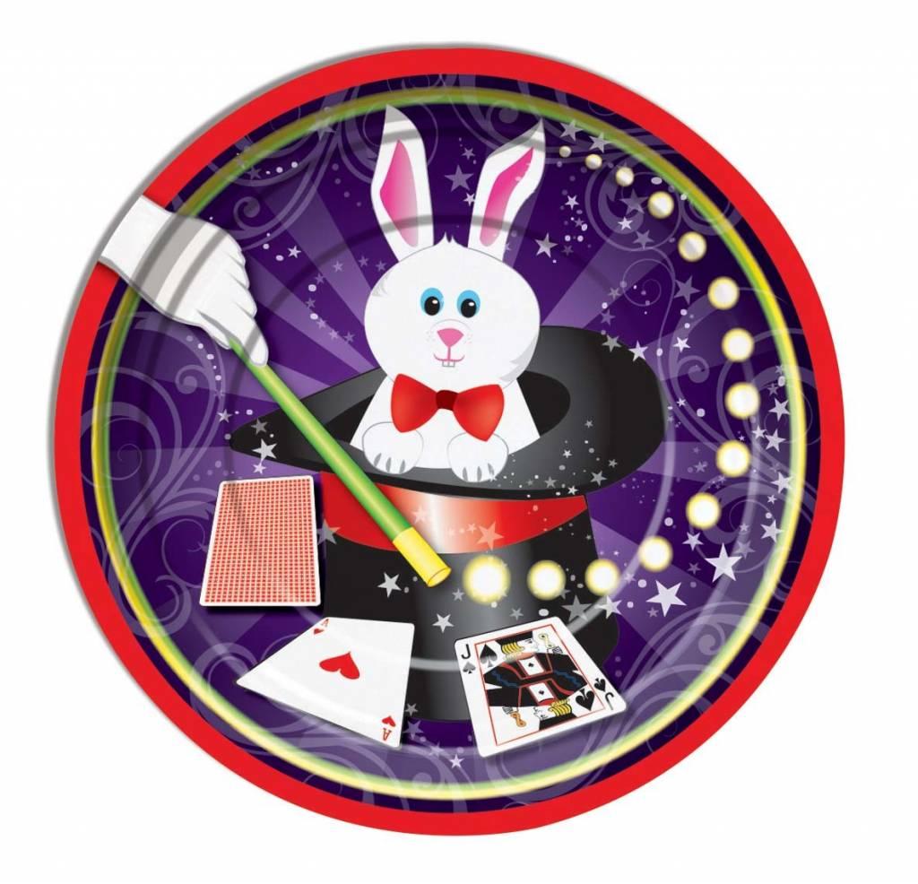 Forum Novelties Magic Rabbit 9  Dinner Plates 8 pcs  sc 1 st  Ronjo Magic & Magic Rabbit Plates (Large) 8pcs - Ronjo Magic Costumes and Party Shop