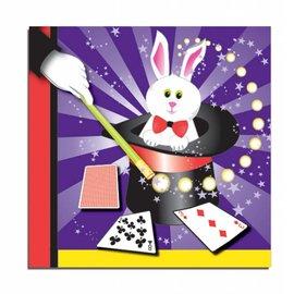 "Forum Novelties Magic Rabbit 13"" Napkins - 16 Pack"