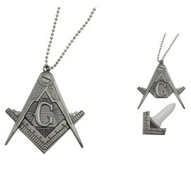 Freemason Necklace Knife w/Hidden Blade