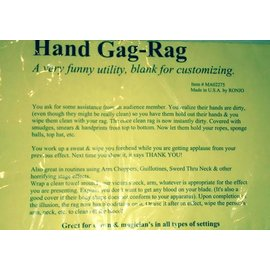 Ronjo Hand Gag Rag, Blank for customizing