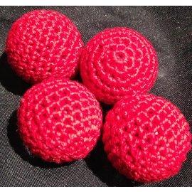 Ronjo Crocheted Balls Acrylic 4 pk, 3/4 inch - Red (M8)