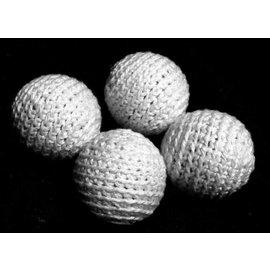 Ronjo Crocheted Balls Cork 4 pk, 1 inch - White (Reversed)