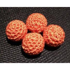 Ronjo Crocheted Balls 4 pk Wood , 5/8 inch - Orange (M8)