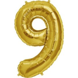 """Conver USA Number 9 Gold 34"""" Balloon"""