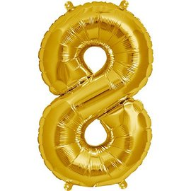 """Conver USA Number 8 Gold 34"""" Balloon"""