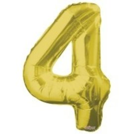 """Conver USA Number 4 Gold  34"""" Balloon"""