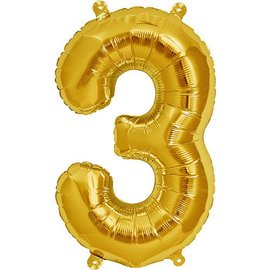 """Conver USA Number 3 Gold  34"""" Balloon"""