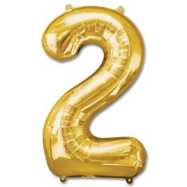 """Conver USA Number 2 Gold 34"""" Balloon"""