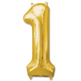 "Conver USA Number 1 Gold  34"" Balloon"