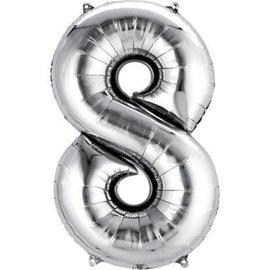 """Conver USA Number 8 Silver 34"""" Balloon"""