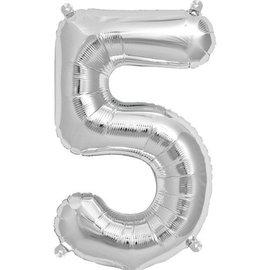 """Conver USA Number 5 Silver Balloon 34"""""""