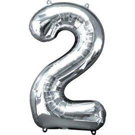 """Conver USA Number 2 Silver 34"""" Balloon"""