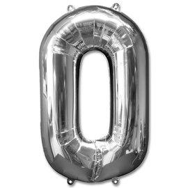 """Conver USA Number 0 Silver 34"""" Balloon"""