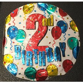 2nd Birthday Foil Balloon 18""