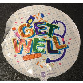 Betallic Inc. Get Well Foil Balloon 18""