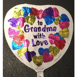 Anagram To Grandma With Love Foil Balloon 18""