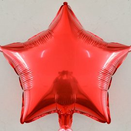 "U.S. Balloon Metallic Flat Red Star Foil Balloon 19"""
