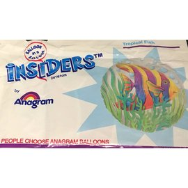 """Anagram Tropical Fish Insiders Foil Balloon 24"""""""