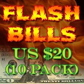 Flash Bills - Ten Pack $20.00 Denominations