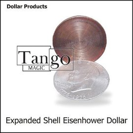 Tango Expanded Eisenhower Dollar Shell (Online Instructions and Gimmick)  by Tango