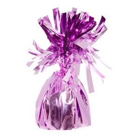 Unique Party Favors Balloon Weight, Pink - Fringed Foil 6.20 oz