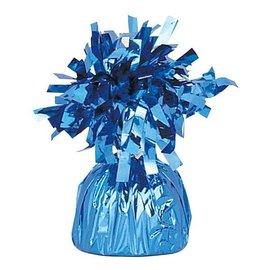 Unique Party Favors Balloon Weight, Light Blue - Fringed Foil 6.20 oz