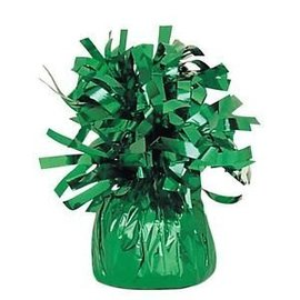 Unique Party Favors Balloon Weight, Green - Fringed Foil 6.20 oz