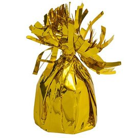 Unique Party Favors Balloon Weight, Gold - Fringed Foil 6.20 oz