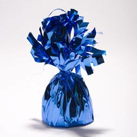 Unique Party Favors Balloon Weight, Royal Blue - Fringed Foil 6.20 oz