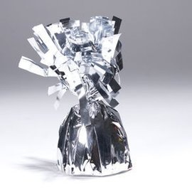 Unique Party Favors Balloon Weight, Silver - Fringed Foil 6.20 oz