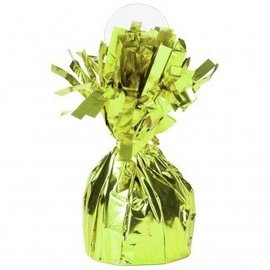 Unique Party Favors Balloon Weight, Lime Green - Fringed Foil 6.20 oz
