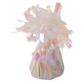 Unique Party Favors Balloon Weight, Iridescent - Fringed Foil 6.20 oz