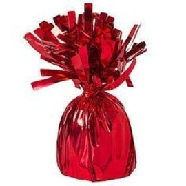 Unique Party Favors Balloon Weight, Red - Fringed Foil 6.20 oz