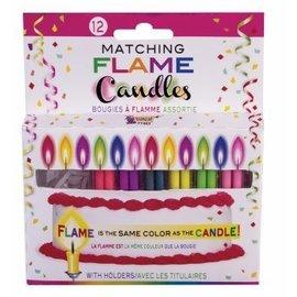 """Forum Novelties Matching Flame Candles - 12 pk, 2"""""""