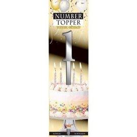 Forum Novelties Number Topper #1 - Silver
