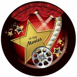 "Forum Novelties At The Movies 7"" Desert Plates, 8 pcs"