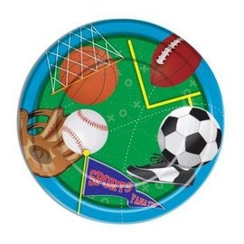 "Forum Novelties Sports 9"" Dinner Plates, 8 pcs"