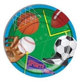 "Forum Novelties Sports 7"" Desert Plates, 8 pcs"