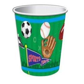 Forum Novelties Sports 9 oz. Paper Cups, 8 pcs