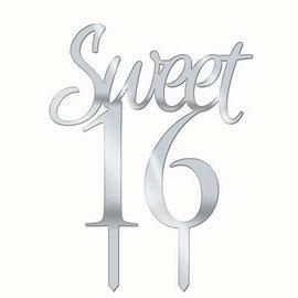 Forum Novelties Cake Topper Sweet 16