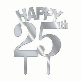 Forum Novelties Cake Topper Happy 25th